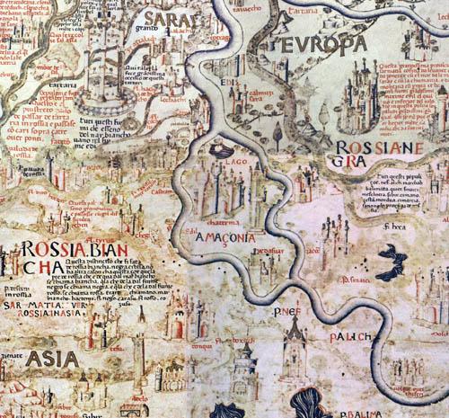 карта Фра Мауро - Амазония